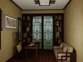 中式小书房装修效果图欣赏