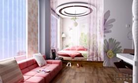 卧室飘窗窗帘装修效果图大全2013图片