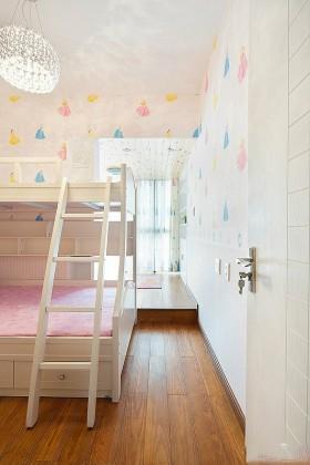 儿童房卧室上下铺床装修效果图