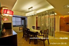 新中式餐厅玄关装修效果图