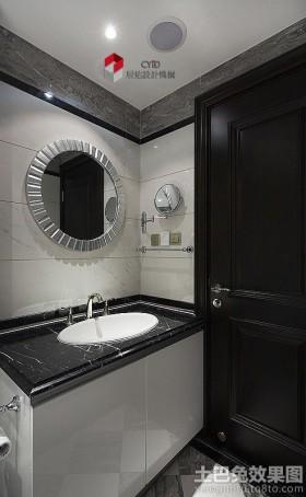 简约洗手间浴室柜装修效果图