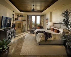 卧室带阳台吊顶装修效果图欣赏