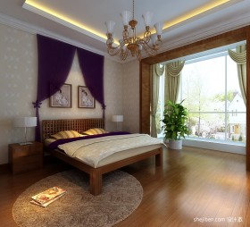东南亚卧室吊顶装修效果图片
