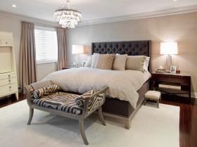 装修效果图卧室床头软包图片