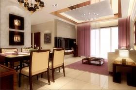 餐厅和客厅吊顶效果图