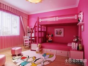 粉红女孩儿童卧室装修效果图