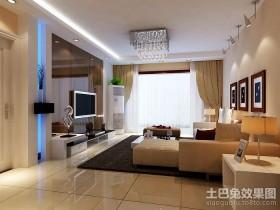 最新简约三居客厅电视背景墙装修效果图片