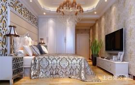 最新欧式三居主卧室装修效果图