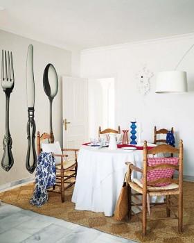 北欧风格餐厅餐桌装修效果图