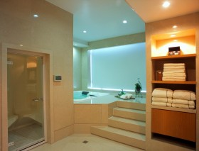 最新现代别墅卫生间装修效果图