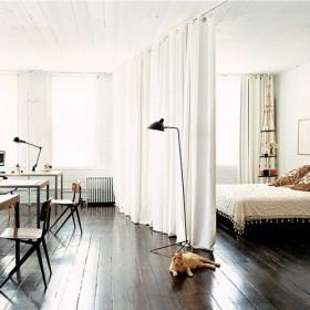 卧室窗帘隔断装修效果图