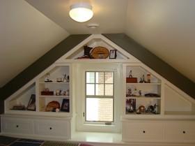 斜顶阁楼装修效果图大全2013图片