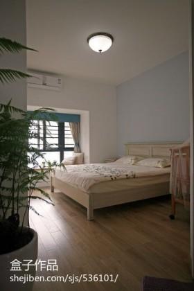 现代简约卧室飘窗设计效果图
