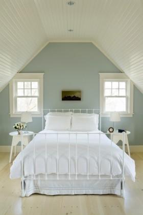 欧式风格阁楼欧式斜顶阁楼卧室装修效果图大全2013
