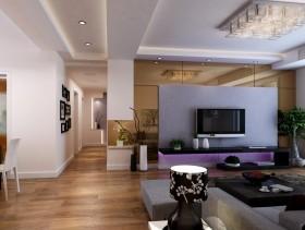 最新简约客厅电视背景墙装修效果图欣赏