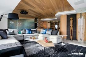 阁楼客厅装修效果图大全2013图片