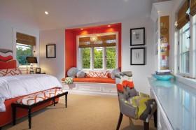 最新带飘窗的小卧室效果图