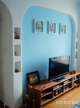 2013田园客厅电视背景墙装修效果图欣赏