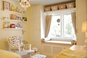 最新暖色调书房飘窗装修效果图大全