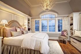 欧式卧室飘窗装修效果图片
