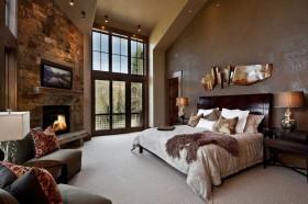 最新美式主卧室装修效果图大全