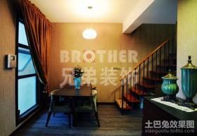 中式现代餐厅装修效果图大全2013图片