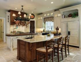 美式厨房吊顶装修效果图欣赏