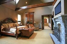 美式阁楼卧室装修效果图大全