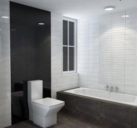现代风格卫生间浴缸装修效果图欣赏