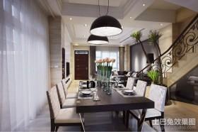 复式家装餐厅设计图片