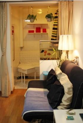 小户型暖色调装修室内装效果图