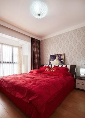 最新现代简约婚房卧室装修效果图