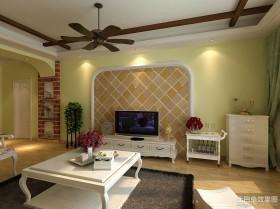 田园风格客厅电视背景墙墙装修图片
