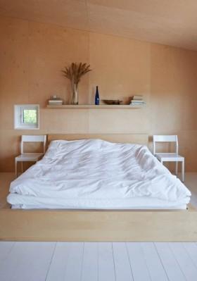 卧室实木床效果图