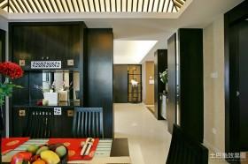 中式走廊玄关装修效果图
