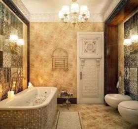 欧式小卫生间浴缸吊顶装修效果图大全
