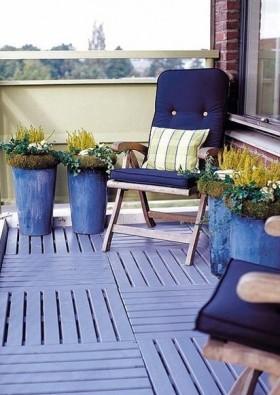 最新简约风格小阳台花园设计效果图欣赏