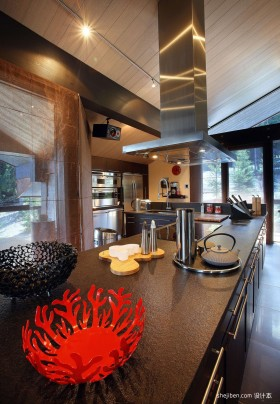 别墅开放式厨房装修效果图大全