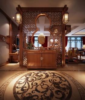 中式进门玄关装修效果图欣赏