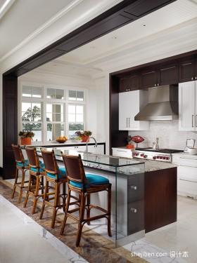 现代厨房吧台装修效果图欣赏