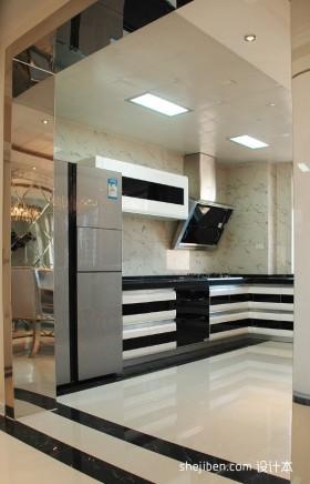 最新现代开放式厨房装修效果图大全2013图片欣赏