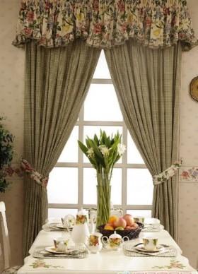 2013最新餐厅窗帘效果图欣赏