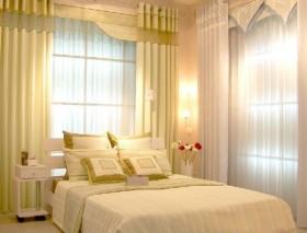 现代简约卧室窗帘效果图欣赏