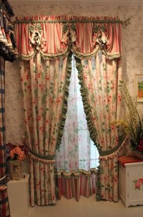 田园卧室窗帘效果图