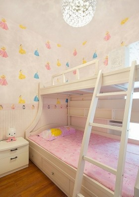 最新简约儿童房卧室床装修效果图