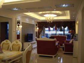 欧式风格客厅背景墙壁纸装修效果图