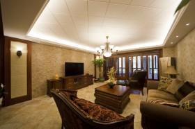 美式客厅背景墙设计效果图