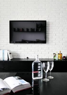 北欧客厅电视墙设计