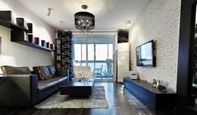 地中海客厅液晶电视墙装修效果图