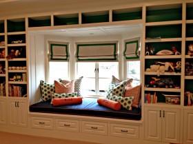 欧式书房飘窗装修效果图欣赏